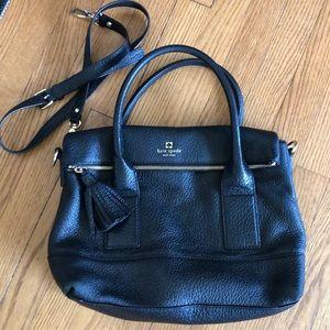 Black pebbled leather Kate spade bag. 💼